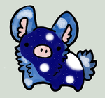 MoonCloud PigBunny - FluffyButt (RESERVED GIFT) by MysticStar-NiChan
