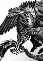 B/W Dragon 4 by SonsationalCreations