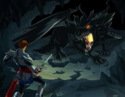 Blood of the Light: Dragon Fight by tiffa