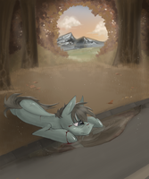 Fallen leaves by MyMineAwesome