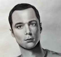 Jim Parsons as Dr. Sheldon Cooper by Mannaz11