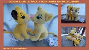 Japan Simba And Nala 110th Birth Of Walt Disney by DoloAndElectrik