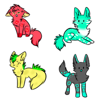 Tropical Adoptables by gottaluvcats-adopts