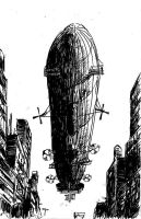 Zeppelin over 6'th Avenue by PaxAeternum