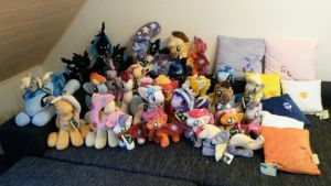 MLP Plushies - For GalaCon 2015 by Varonya