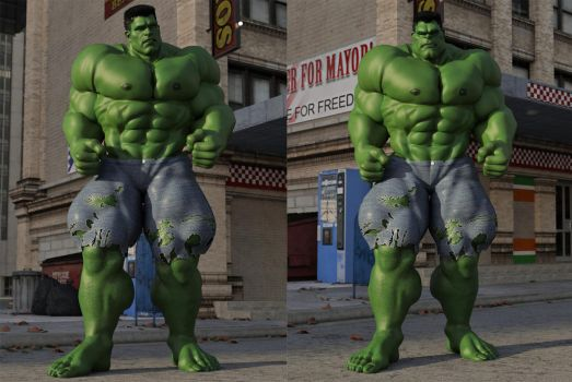 Hulk Comparison by DahriAlGhul