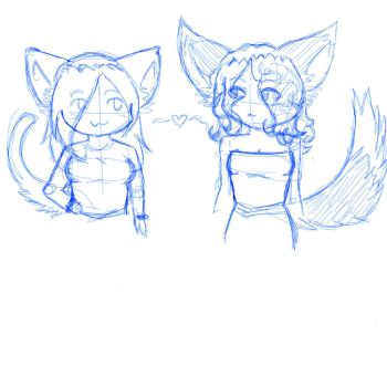 Rie and Sher chibi-ized by Alenimakeko