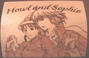Howl and Sophie Woodburning by akicafe