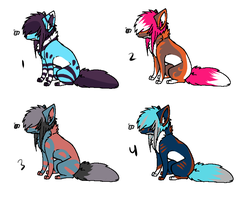 Scene Fox Adopts.CLOSED. by HappyDesigns