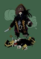 The evil pirate LeChuck by VegaNya