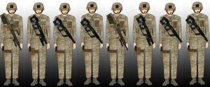 Leopard Infantry Squad, Late 2741 by EricJ562