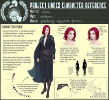 PHOCT: Sisca's character sheet by MidnightTea7