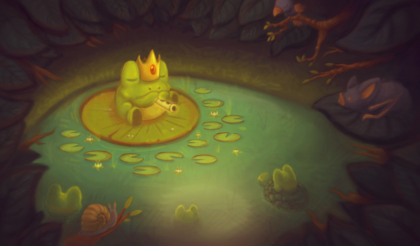 King Frog by A-wild-vic-appears