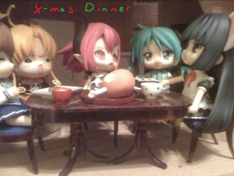 X-Mas Dinner with the Nendo's by Sunny-Elric