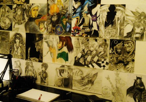 My Wall of Drawings by 1Finale95