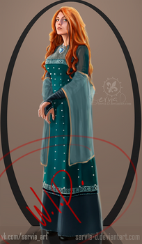 Book styled Triss. Fragment. by Servia-D