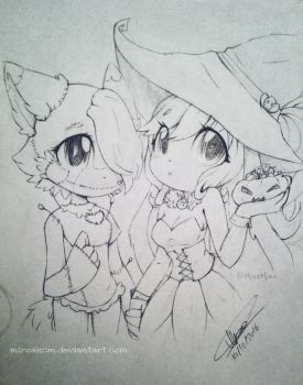 ~Halloween collab~ With Miss-Minu by MirzaKCM
