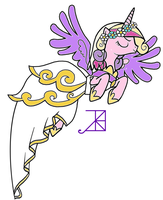 Evil Cadance lineart colored by YugiohPonyAvengers