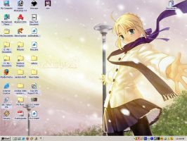 Saber Desktop Screen by SleepyDoodler