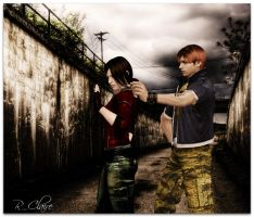 Resident Evil - Steve and Claire by IrinessaS