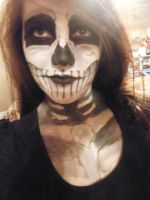 Skeleton Makeup 1 by Randomshadowmusic