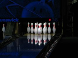 Cosmic Bowling Pins Reflection by plutoplus1