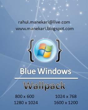 Blue windows wallpack by manekari