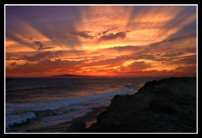 Sunset in HB by TomasGarcia