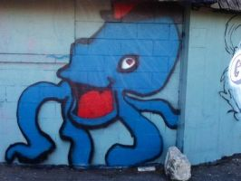 spray paint octopus (in progress) by bigdaddyred