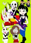 Yushiko and Rabbits band by AsmodeodeSinan