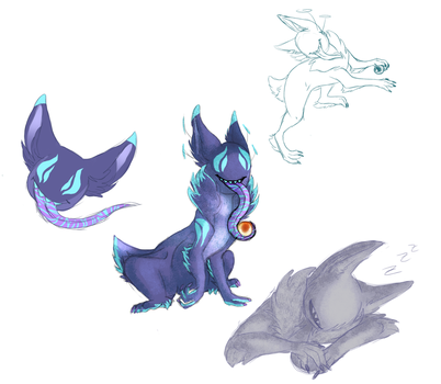 Cccat Sketch Page.:Trade:. by wolftales1
