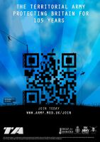 Territorial Army QR Code Advert by thomasdyke