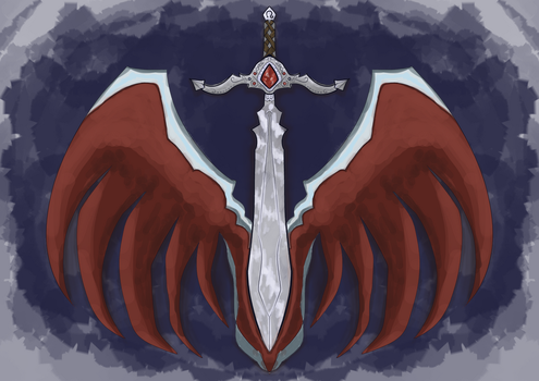 Sword And Wings Design by ashenmoons