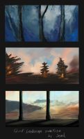 Photoshop landscape practise 01 by Bomb-a-Jead