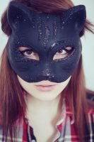 eyes through the mask cat by Cvet04ek