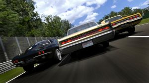 Vintage muscle car racing 3 by RaynePhotography