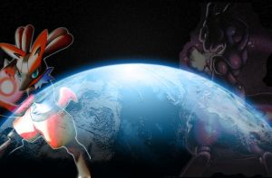 Mewtwo vs. Lucario by MasterEraqus