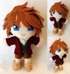 Commission, Mini Plushie Bilbo Baggins by ThePlushieLady