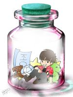 Jonghyun in a bottle by Pulimcartoon