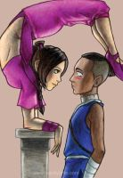atla - sokka and ty lee by kamladolly