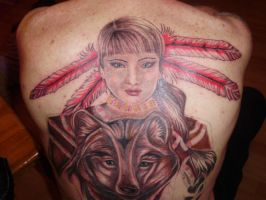native indian TATTOO wip by DREAMandDIFFER