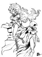 Starfire and Raven commission by Dogsupreme