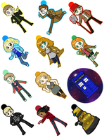 Dr. Who Keychains by Gray-Sea