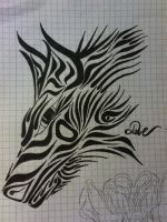 Tribal-Wolf by DaveDTuRtLe