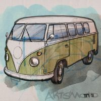 Classic VW T2 Transporter by monkeycrisisonmars