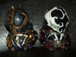 Custom redeemer and classic Spawn 4' Munny se by VILORIA-ARTS