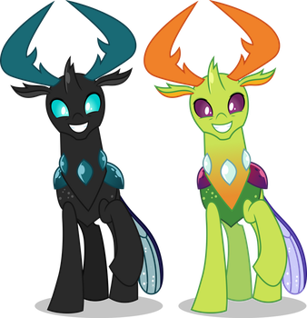 Vector #716 - King Thorax #2 (Old And New Colors) by DashieSparkle
