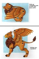 Gryphon Art Card Paper Doll by hollyann