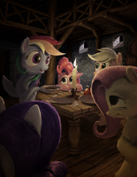 Around The Candle by LordGood
