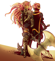 Cherche and Gerome by PastelWing